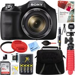 Sony Cyber-shot DSC-H300 Digital Camera + 32GB Memory Car...