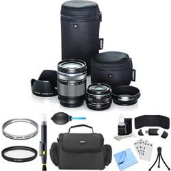 Olympus Digital ED 14-150mm f4.0-5.6 II and 17mm f1.8 Dua...