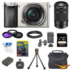 Sony Alpha a6000 24.3MP Silver Interchangeable Lens Camer...