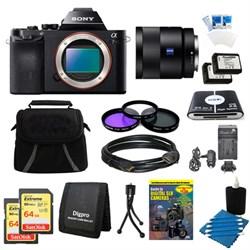 Sony Alpha 7R a7R Digital Camera, 55mm Lens, 2 64 GB SDHC Cards, 2 Batteries Bundle