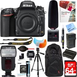 Nikon D750 24.3MP DSLR Camera Body + Tascam DR-10SG Recor...