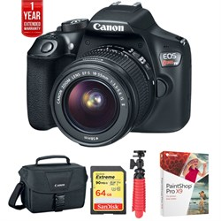 Canon EOS Rebel T6 DSLR Camera w/ 18-55mm + 75-300mm Dual...