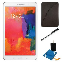 Samsung Galaxy Tab Pro 8.4 White 16GB Tablet and Case Bundle