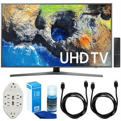 "Samsung 54.6"" 4K Ultra HD Smart LED TV (2017 Model) W/ Accessories Bundle"