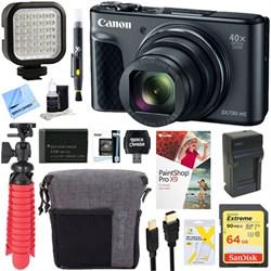 Canon PowerShot SX730 HS 20.3MP Digital Camera (Black) + ...