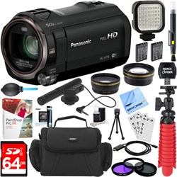 Panasonic HC-V770K HD Camcorder with Mini Zoom Microphone...