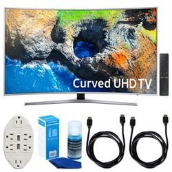 "Samsung 48.5"" Curved 4K Ultra HD Smart LED TV (2017 Model) W/ Accessories Bundle"