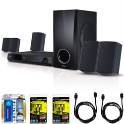 LG BH5140S 3D Capable 500W 5.1ch Blu-ray Disc Home Theater System Bundle E1LGBH5140S