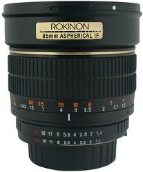 Rokinon 85MAF-N - 85mm f/1.4 Aspherical Lens for Nikon DS...