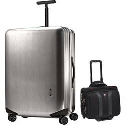 "Samsonite Inova Luggage 20"" Hardside Spinner (Silver) Plu..."