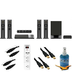 Sony 1200W 5.1ch Blu-Ray Home Theater System Plus Hook-Up Bundle - BDV-N7200W