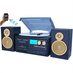 Boytone BT-28SPG Bluetooth Classic Style Record Player Turntable w/ CD Player & More BOYTBT28SPG