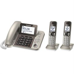 Click here for Panasonic Corded Phone with 2 Cordless Handsets -... prices