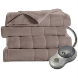 Click here for Sunbeam Twin Quilted Fleece Heated Blanket - BSF9G... prices