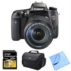 Canon EOS Rebel T6s Digital SLR Camera Body with 18-135mm STM Lens 32 GB Bundle