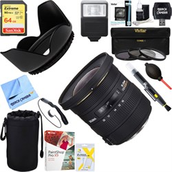 Sigma 10-20mm F3.5 EX DC HSM A-Mount Lens for Sony + 64GB...