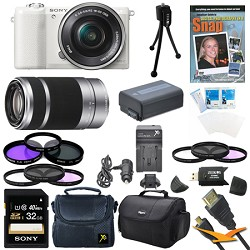 Sony a5100 Mirrorless Camera w/ 16-50mm and 55-210mm Zoom...