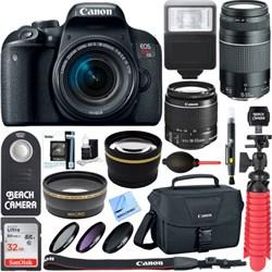 Canon EOS Rebel T7i DSLR Camera EF-S 18-55mm & 75-300mm I...