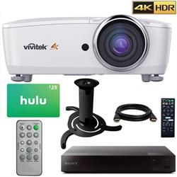 Vivitek HK2288 4K DLP Projector HDR (White) w/ 3 Free Months Netflix + Sony Blu Ray Kit E2VTHK2288WH
