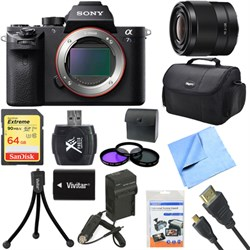 Sony a7S II Full-frame Mirrorless Interchangeable Lens Camera Body 28mm Lens Bundle E10SNILCE7SM2B