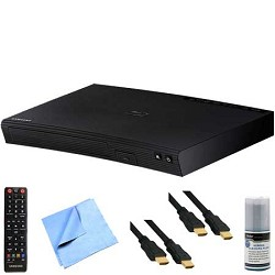 Samsung BD-J5700 - Wi-Fi Blu-ray Disc Player Plus Hook-Up Bundle E1SAMBDJ5700