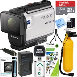 Sony HDR-AS300 Action Cam + Outdoor Action Kit & Memory B...