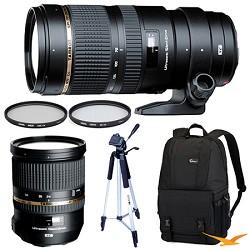 Tamron SP 70-200mm f2.8 DI VC USD Telephoto Zoom & SP 24-70mm f2.8 Lens Kit For Nikon