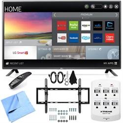 LG 60LF6100 - 60-inch 120Hz Full HD 1080p Smart LED HDTV Tilt Mount/Hook-Up Bundle