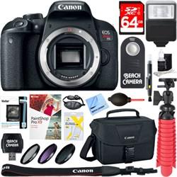 Canon EOS Rebel T7i Digital SLR Camera (Body) 64GB SDXC M...