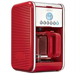 Sensio Bella Linea 12-Cup Programmable Coffee Maker in Red - 14108 SEN14108