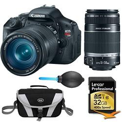 Canon EOS Digital Rebel T3i 18MP SLR Camera 18-135mm & 55-250mm Instant Rebate Bundle