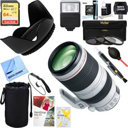 Canon EF 100-400mm f/4.5-5.6L IS II USM Lens + 64GB Ultim...