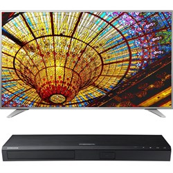 LG 75-Inch 4K UHD Smart TV - 75UH6550 + Samsung UBDK8500 4K UHD Blu-Ray Player E1LG75UH6550