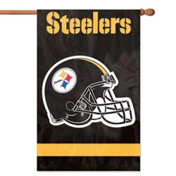 Party Animal Steelers Applique Banner Flag PARAFST
