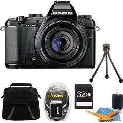 Olympus Stylus-1 12MP Digital Camera Black Kit