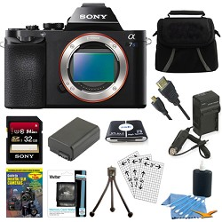Sony ILCE-7S/B a7S Full Frame Mirrorless Camera 32GB SDHC...