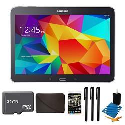 Samsung Galaxy Tab 4 Black 16GB 10.1 Tablet, 32GB Card, and Case Bundle
