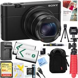 Sony RX100M IV Cybershot Digital 20.1MP Camera + 64GB Dua...