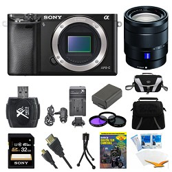 Sony Alpha a6000 Black Interchangeable Lens Camera Body and 16-70mm Lens Bundle E5SNILCE6000B
