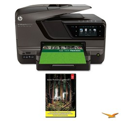 Hewlett Packard Officejet Pro 8600 Plus e-All-in-One Wireless Color Printer w/ Photoshop Light 5