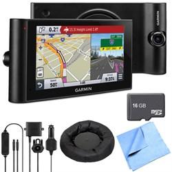 "Garmin dezlCam LMTHD 6"" GPS Truck Navigator w/ Dash Cam D..."