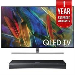 """Samsung QN55Q7F 55"""" 4K UHD Smart QLED TV + HD Blu-ray Pla..."""