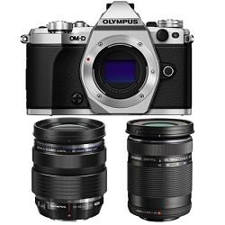 Olympus OM-D E-M5 Mark II Silver Digital Camera with 12-4...