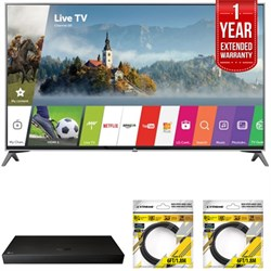 "LG 60"""" Super UHD 4K HDR Smart LED TV 2017 Model with Warranty + Blu Ray Bundle"" E10LG60UJ7700"