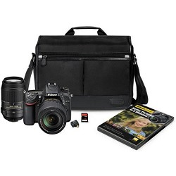 Nikon D7100 DX-format Black Digital SLR Camera Kit with 18-140mm VR Lens 55-300 kit
