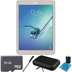Samsung Galaxy Tab S2 9.7-inch Wi-Fi Tablet (Gold/32GB) 16GB MicroSD Card Bundle