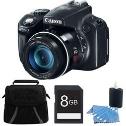 Canon Powershot SX50 HS 50x Zoom High-Performance Camera 8GB Bundle