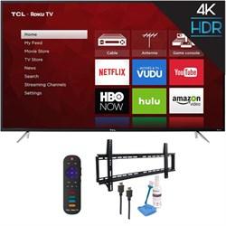 "TCL 65"" 4K 120Hz Ultra HD Dual Band Roku Smart LED TV Bla..."