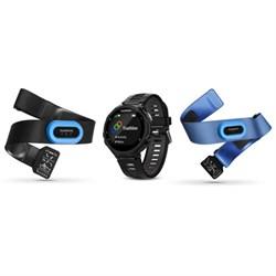 Garmin Forerunner 735XT GPS Running Watch Tri-Bundle - Bl...
