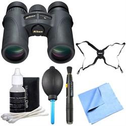 Nikon 7549 Monarch 7 Binoculars 10x42 Explorer Bundle